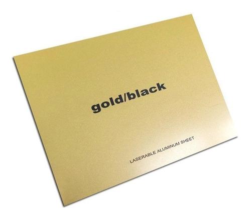 aluminio bicapa laserables 0,45mm x4 unidades oro / negro
