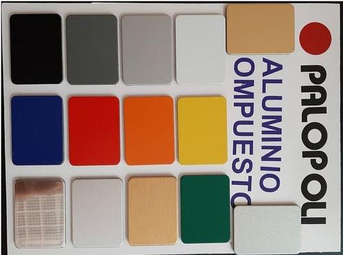 aluminio compuesto 1,25x5,80m palopoli espejo 3mm