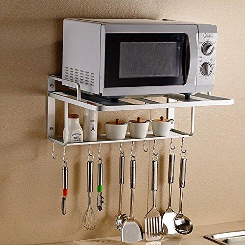 Aluminio espacio del horno microondas soporte de pared - Soportes microondas pared ...