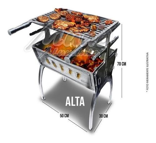 alumínio fundido, churrasqueira desmontável, portátil