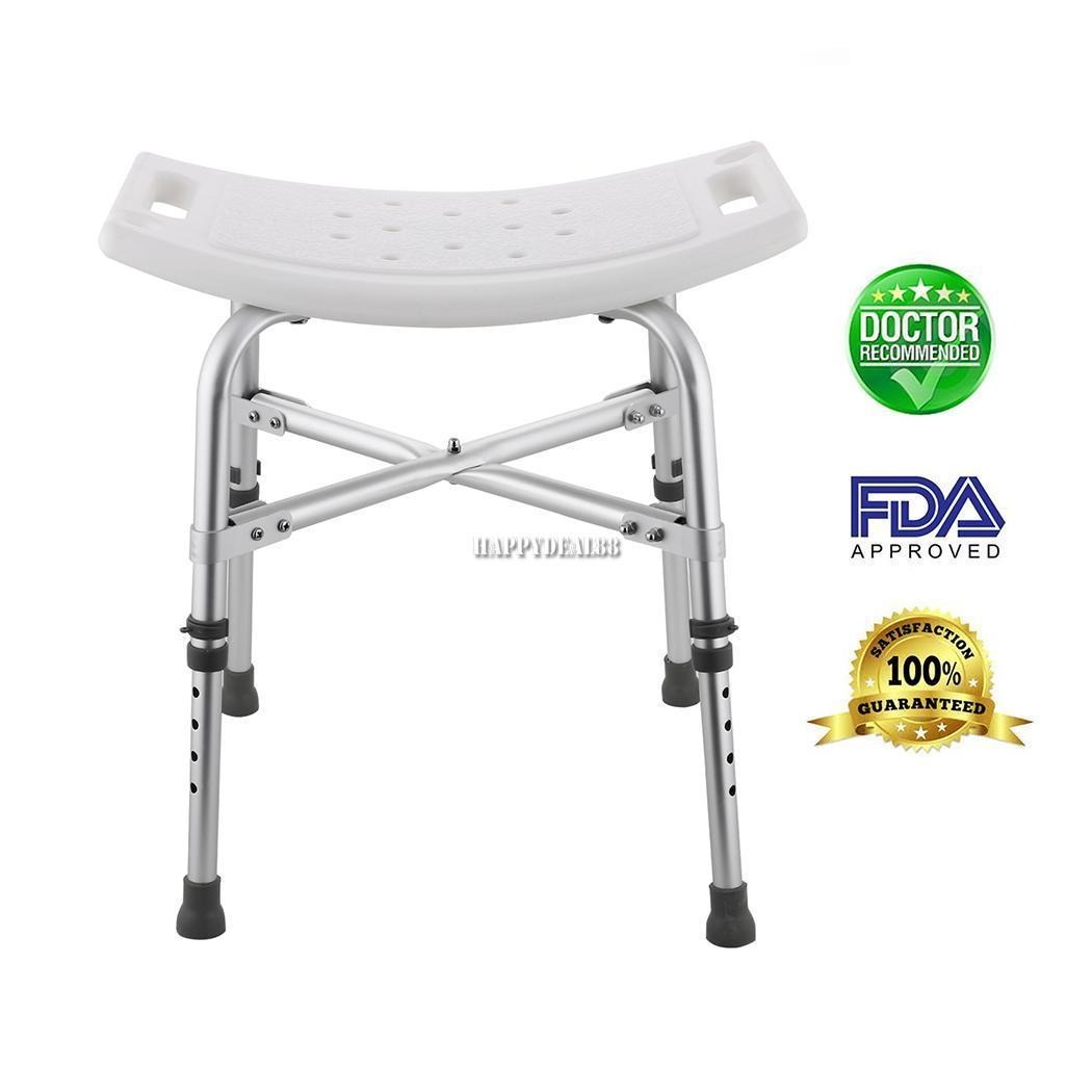 Aluminio Robusto Blanco Ducha Taburete Baño Tipo Altura Ajus ... 112e3c7e8cc3