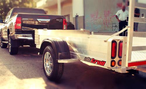 alutrail trailer aluminio 1.30 x 2.50 metros util