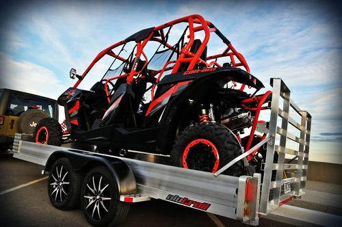 alutrail trailer aluminio utv canam x3 1.85 x 3.40 un eje