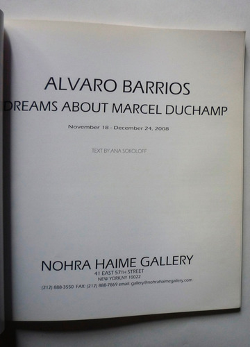 alvaro barrios - dreams about marcel duchamp