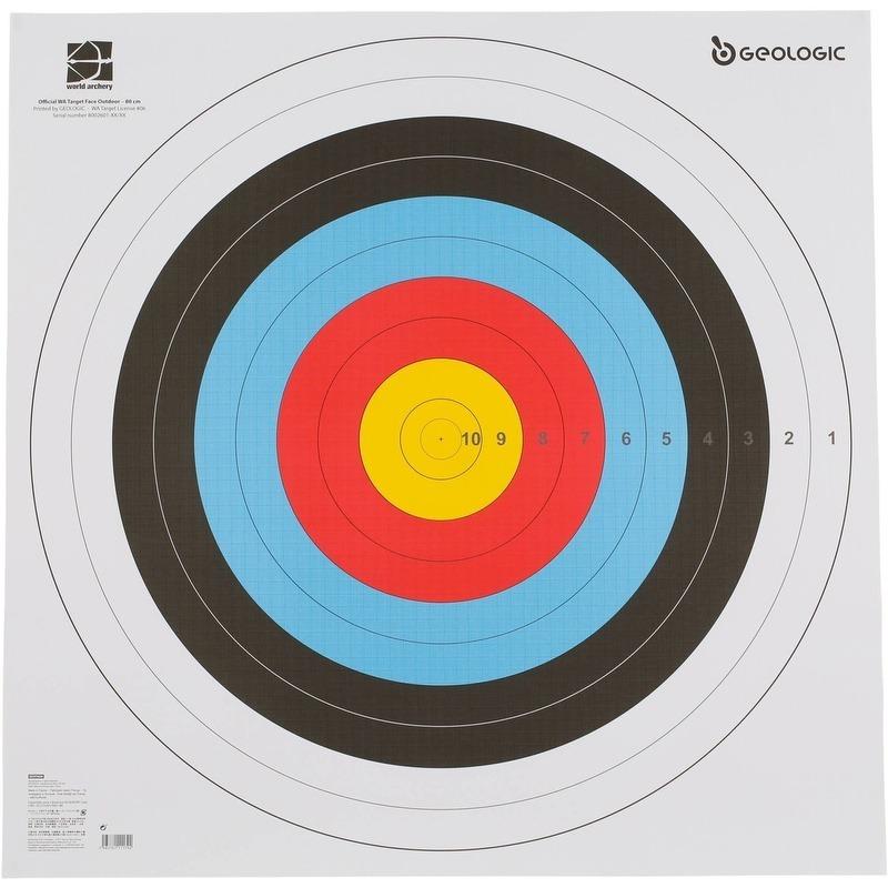 14dcad41b Alvo De Papel Para Arco E Flecha World Archery Geologic - R  21