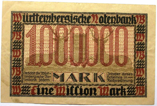 am - alemania est. wurttemberg 1000.000 marcos - 1923 p-s986