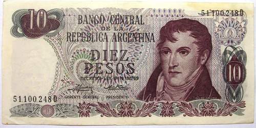 am - argentina 10 pesos - 1974 p-295