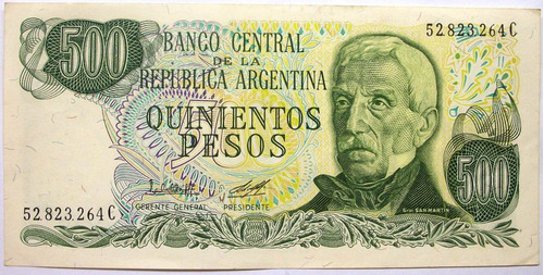 am - argentina 500 pesos 1977 p-303b