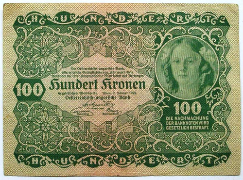 am - austria 100 coronas - 1922 p-77