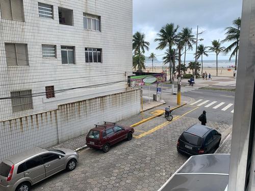 am11 apto 1 dorm - prédio frente mar - guilhermina - 140 mil