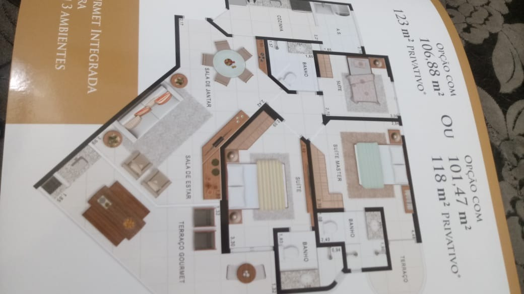 am132 apartamento 3 suítes alto padrão no guarujá