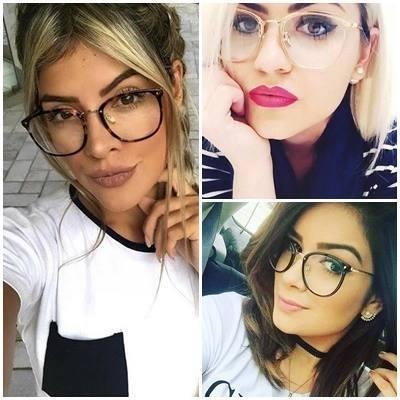 amação óculos grau feminino retrô promoção lançamento 2018 b4dfc8634c