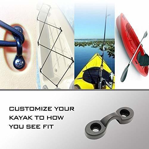 amadget 12pcs kayak nylon lazos de la cubierta del bungee am