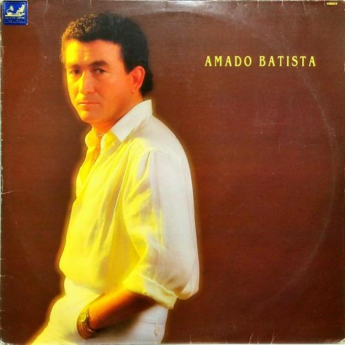 amado batista lp 1987 hospício + poster encarte 13941