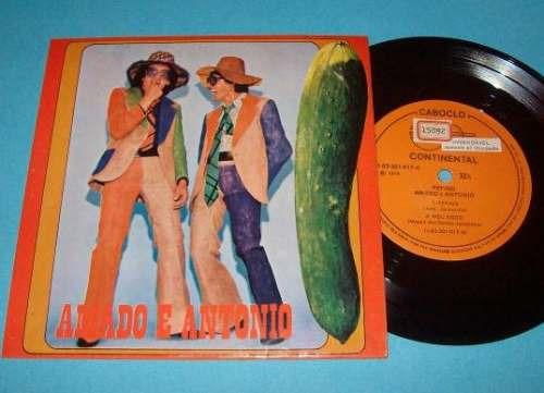 amado e antonio (dupla sertaneja) compacto de vinil (p) 1975