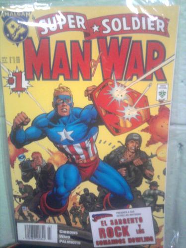 amalgam comics super soldier 1 fusión marvel y dc crossover