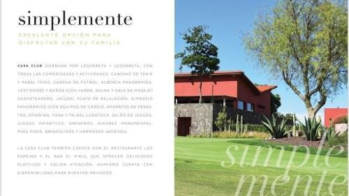 amanali, atractivos terrenos en exclusivo club de golf