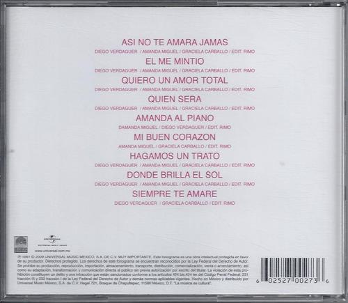 amanda miguel --el sonido volumen 1-- cd nacional