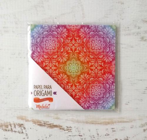 amanecer - papel para origami 10x 10 cm