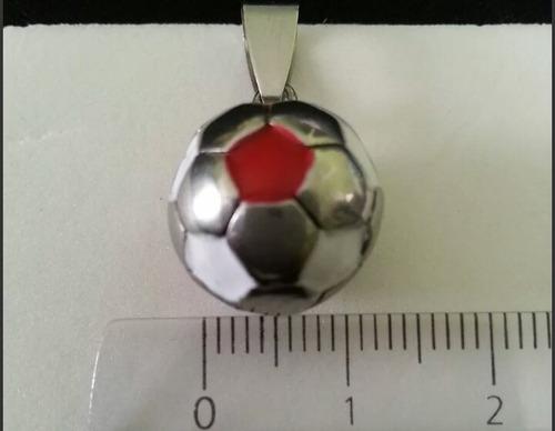 amantes del fútbol dijes de pelotas en acero quirúrgico