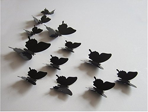amaonm® 60 pcs 5 paquetes beautiful 3d mariposa decalques d
