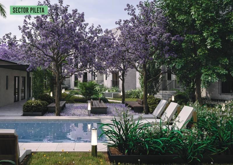 amapolas - vivir en verde - 2 ambientes con patio y cochera fija subterránea