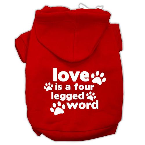 amar es un cuatro pierna palabra pantalla impresión para ma