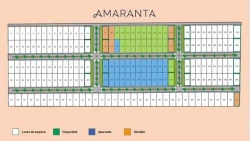 amaranta, lotes residenciales con todos los servicios desde $225,000 mxn