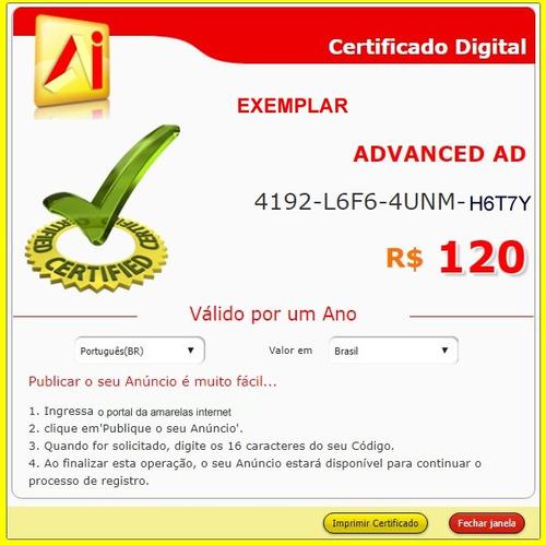 amarelas internet - código standard válido por um ano