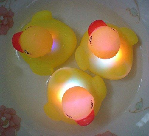 amarillo ducks light-up bath toys luz intermitente (paquete