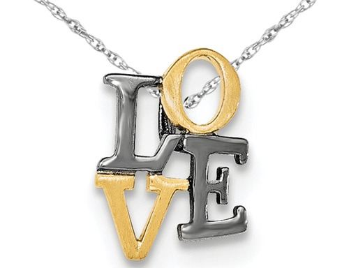 amarillo oro chapado libra esterlina plata amor colgante col