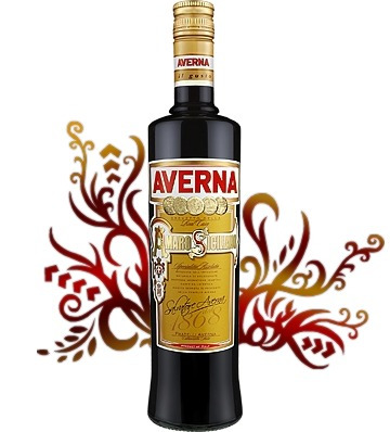 amaro averna c/vasos italiano oferta 2 botellas envío gratis