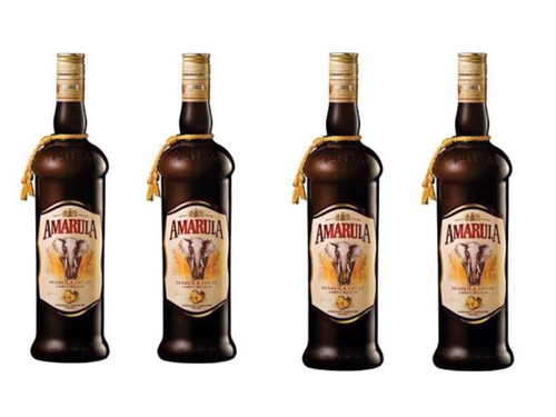 amarula 750 ml original kit com 4 unidades