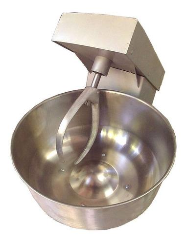 amasadora industrial 20 kg masa motor 1/2 hp bowl acero