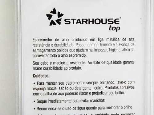 amassador espremedor alho metal - starhouse top bs0259