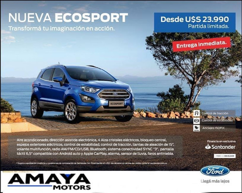 amaya ford ecosport 1.5 se 123cv at 4x2