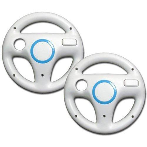 amazeco white mario kart racing wheel para nintendo wii r