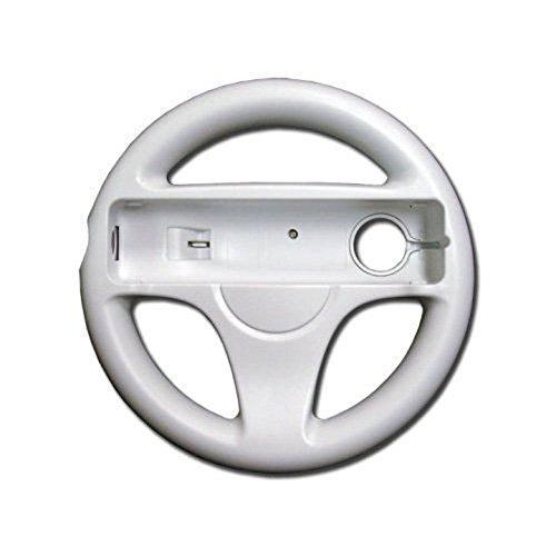 amazeco white mario kart racing wheel para nintendo wii remo