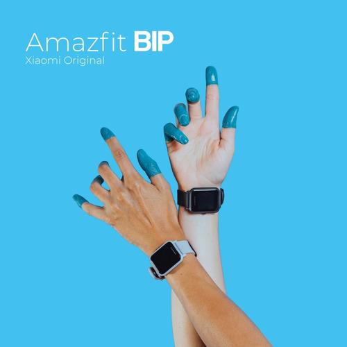 amazfit bip con gps smart watch + carcasa + garantía