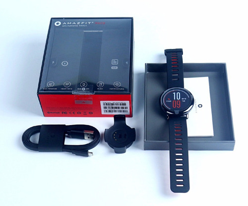 amazfit pace + pelicula smartwatch mp3 gps+ nota fiscal