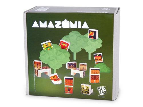 amazônia brinquedo de madeira kitopeq