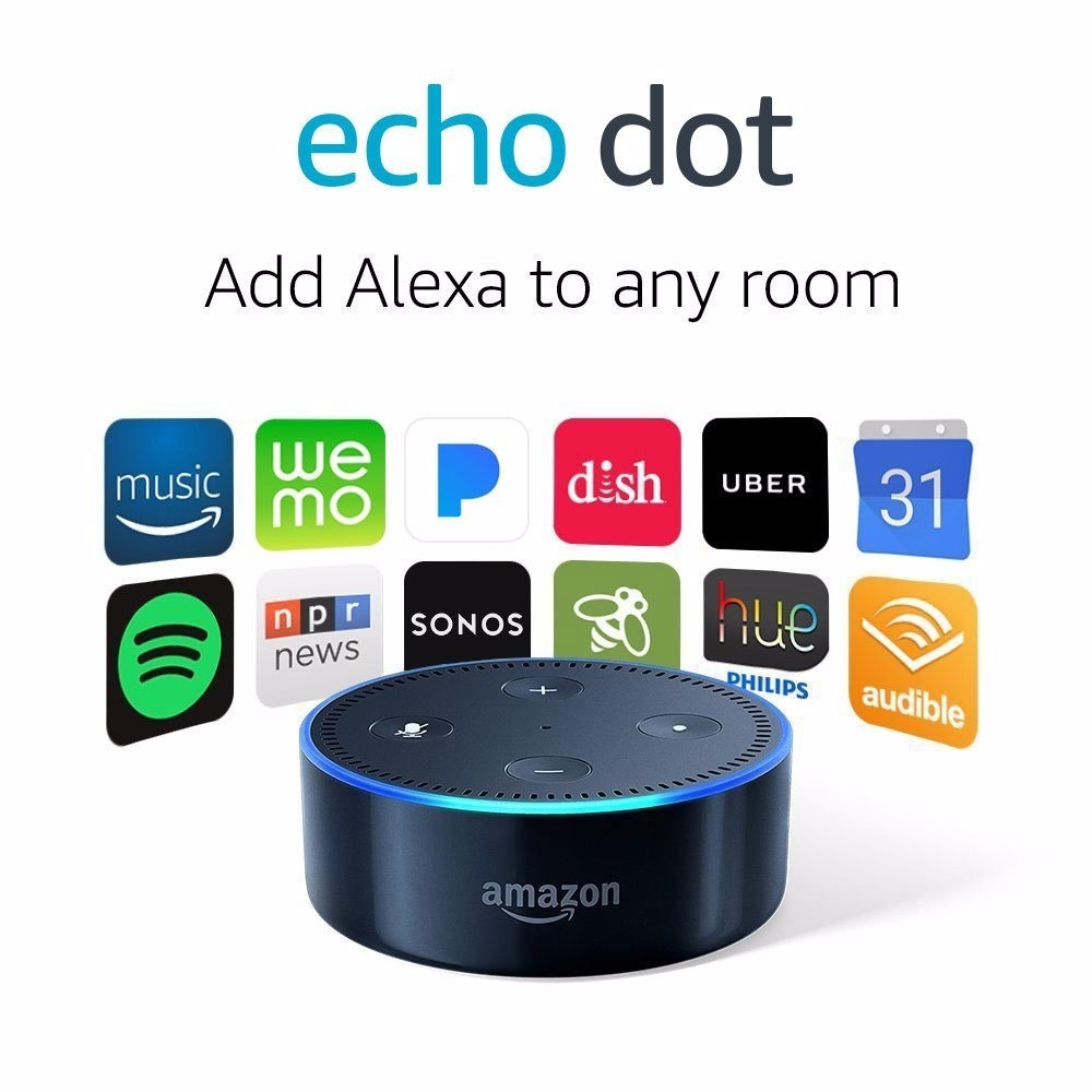 amazon alexa echo dot caixa de comando por voz r 289 89. Black Bedroom Furniture Sets. Home Design Ideas