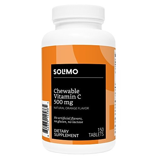 amazon brand solimo masticable vitamina c 500mg sabor de nar