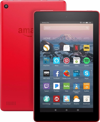 amazon fire 7 tablet 7ª generación 7p , 16gb , 2017 roja