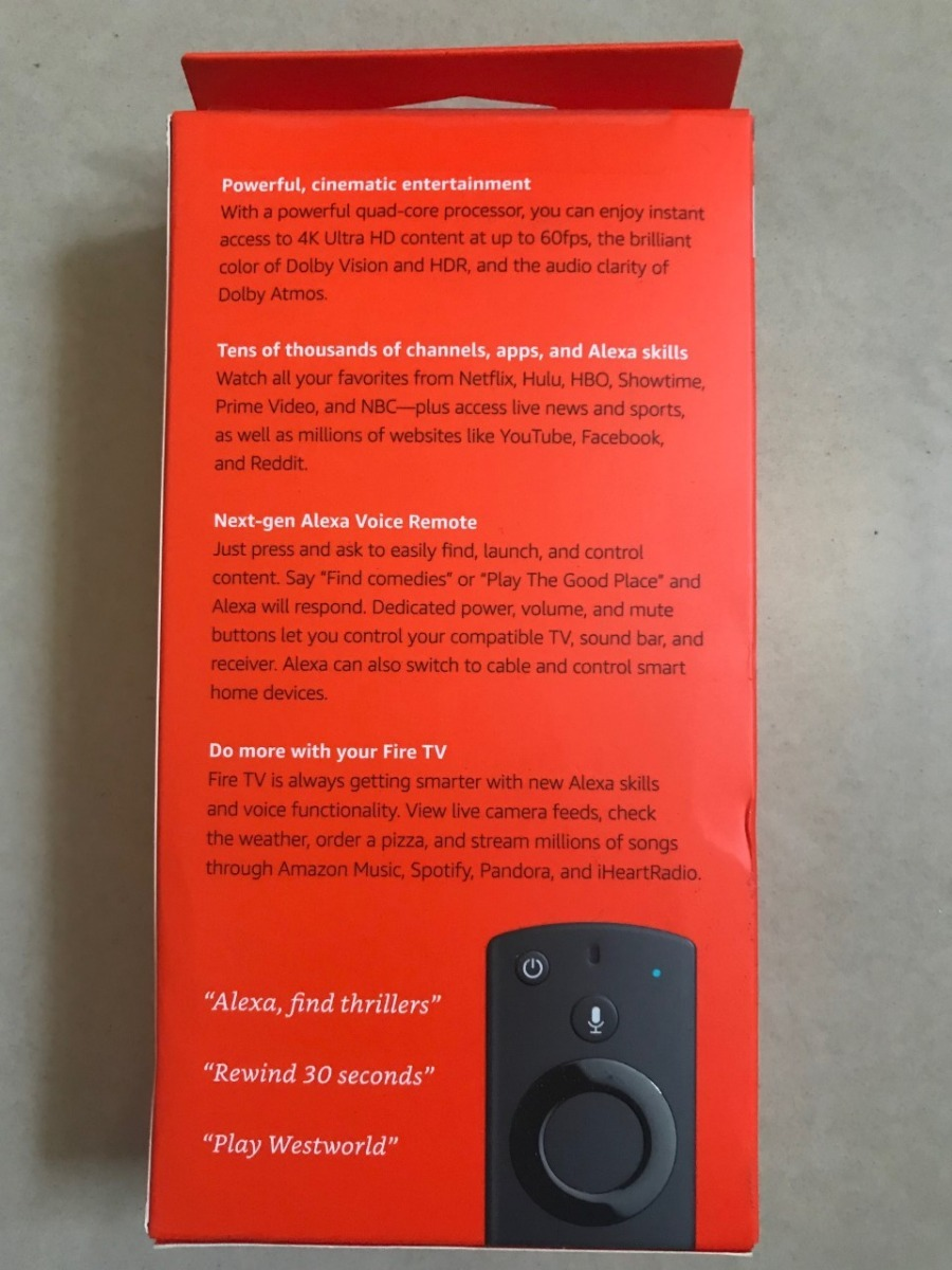 Amazon Fire Tv 4k 3 Geração Ultra Hd Alexa- Smart- Netflix