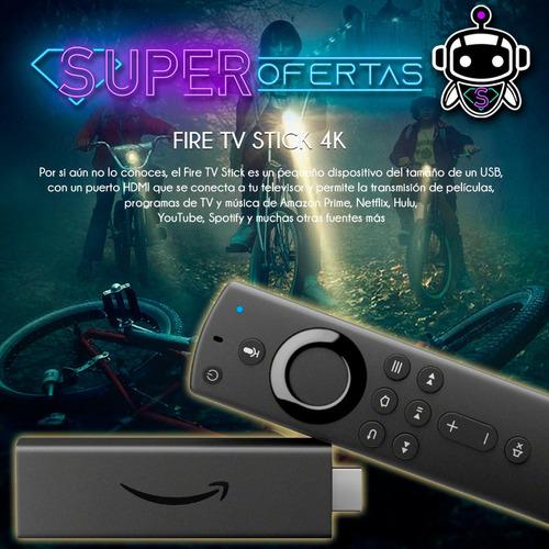 amazon fire tv stick 4k alexa + control por voz = chromecast