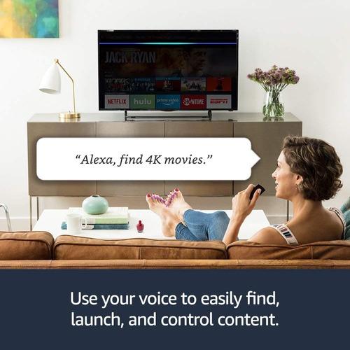 amazon fire tv stick 4k uhd 2018 con alexa entrega inmediata