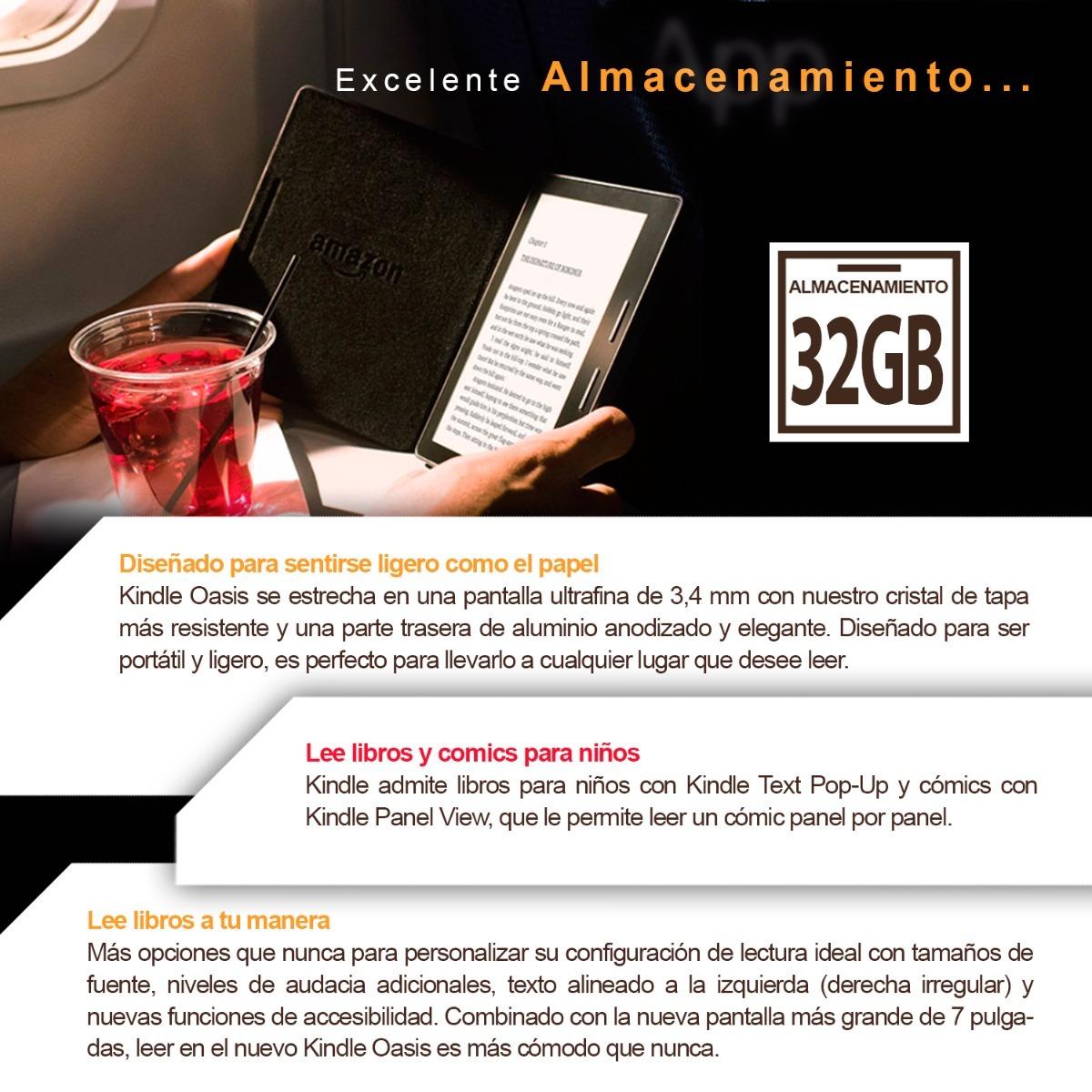 Amazon Kindle Oasis 7 Ultimo Modelo Ereader Ebook 32gb Om - $ 16.199 ...