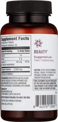 amazon marca - revly péptidos de colágeno + vitamina c...
