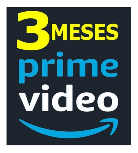 amazon prime video 3 meses calidad hd ( películas y series )